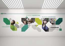 BNP Paribas Wallgraphic designed by Panorama Studio